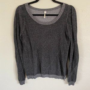 Margaret O'Leary Grey Crew Neck Top